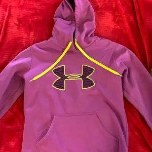 Under armor purple and yellow hoodie small